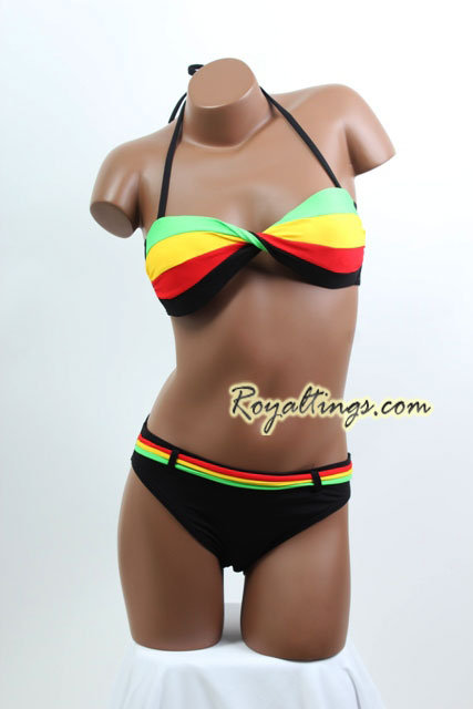 Rasta Bathing Suit + pareo 3