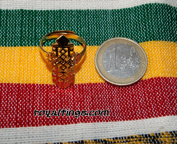 Ethiopian gold plated ring axoum