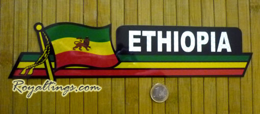 Stickers Ethiopia Car