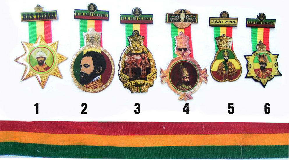 Rasta ribbon badge Bobo Ashanti