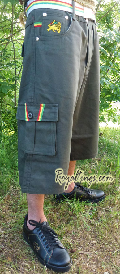 Baggy Short Bermuda Rasta Lion of Judah 4