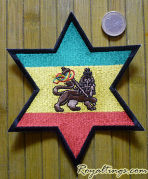 Patch rasta Star lion big Size