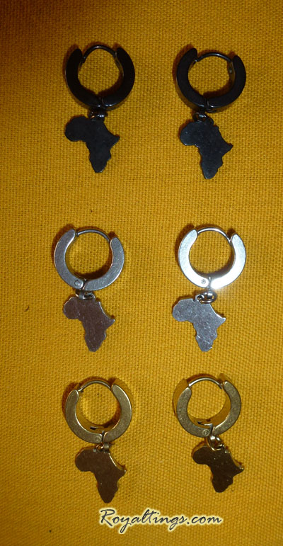 Africa Map earing