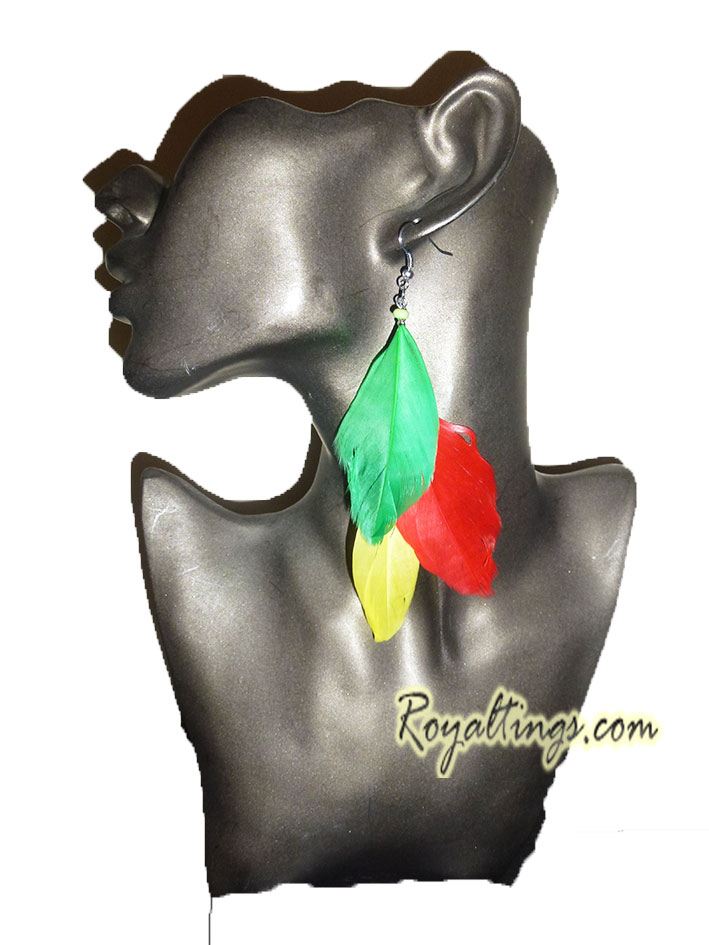 Earings rasta bird