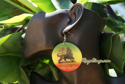 Lion Rastafari Earings