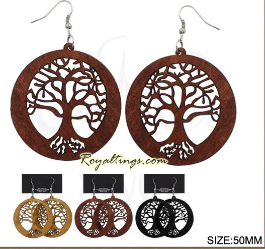 Earrings Life tree