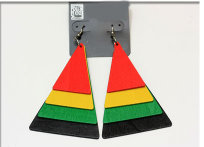 Rasta Pyramid earings