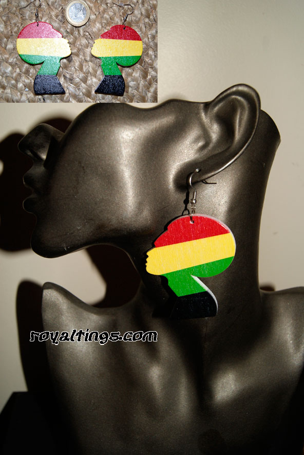 Rasta Queen earings 2