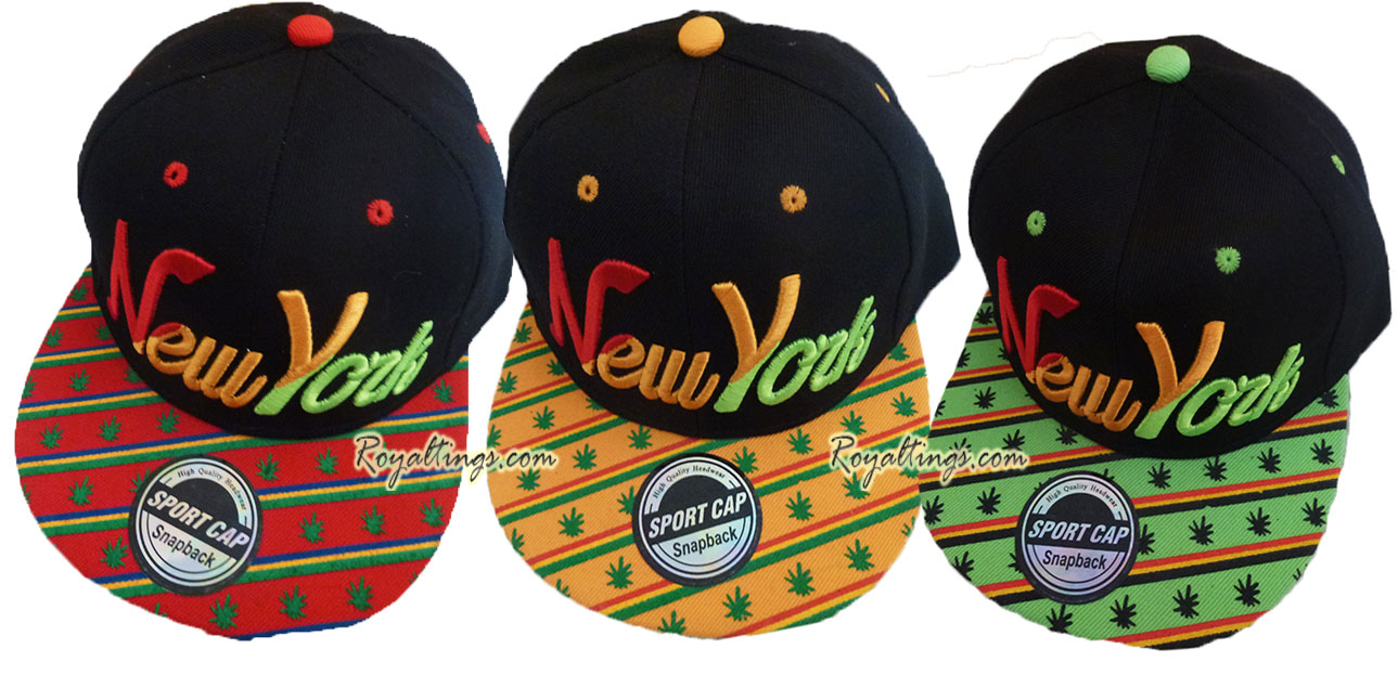 Casquette baseball hip hop Rasta New York 2