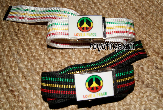 belt rasta peace and love