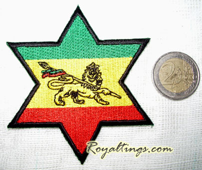Patch rasta Star lion