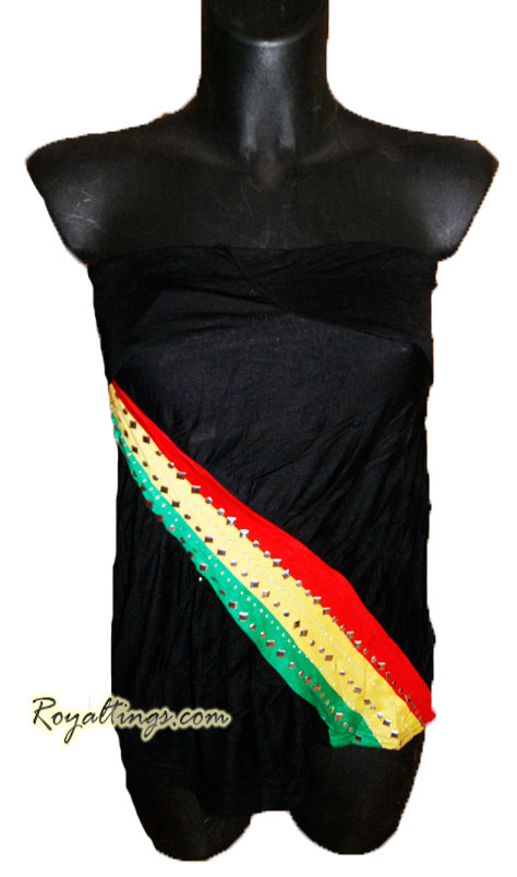 Top rasta strass black or white