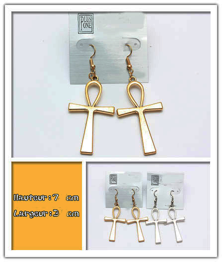 Ankh earings gold or silver