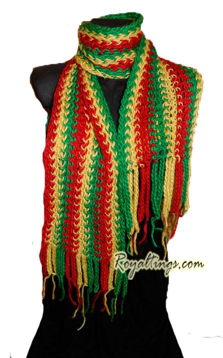 4a57152a2ed Echarpes Rasta et Ethiopienne   www.Royaltings.com boutique rasta ...