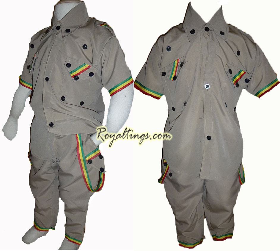 Rasta ethiopian children suit 3/4 y old
