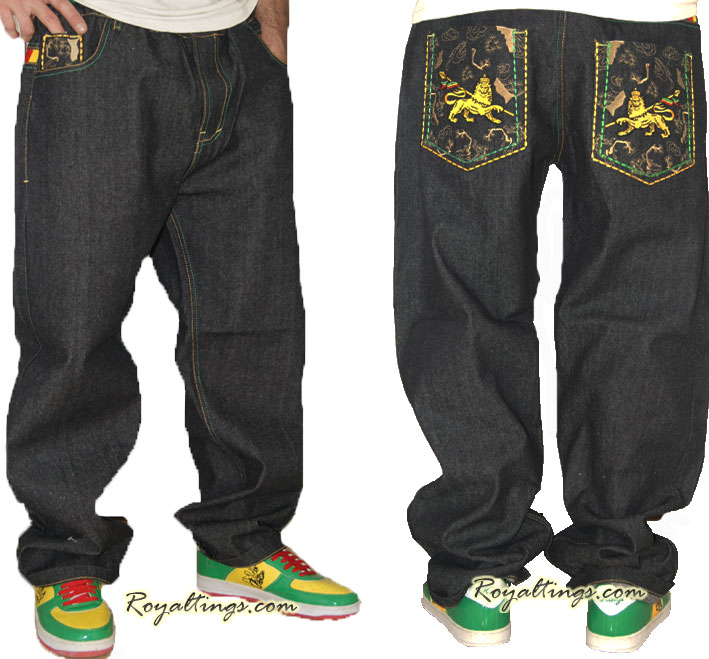 Baggy Jean pantalon rasta Lion of judah 3