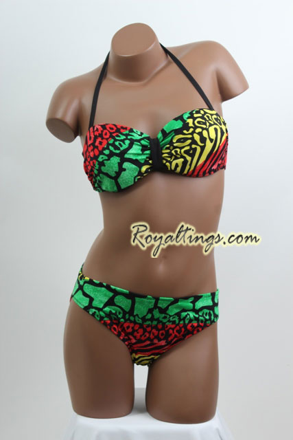 Rasta Bathing Suit + pareo 5