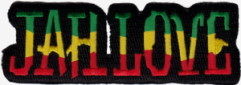 Patch Ecusson rasta Jah Love