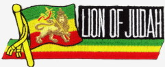 Patch Ecusson rasta lion