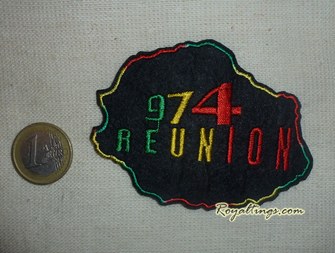 patch ecusson rasta Réunion 974