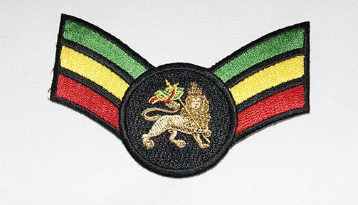 Patch Ecusson rasta lion of judah