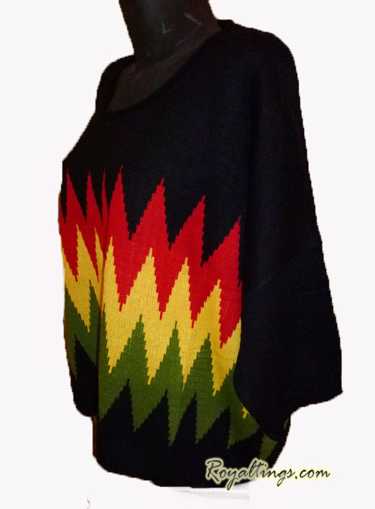 Pull Poncho rasta Queen
