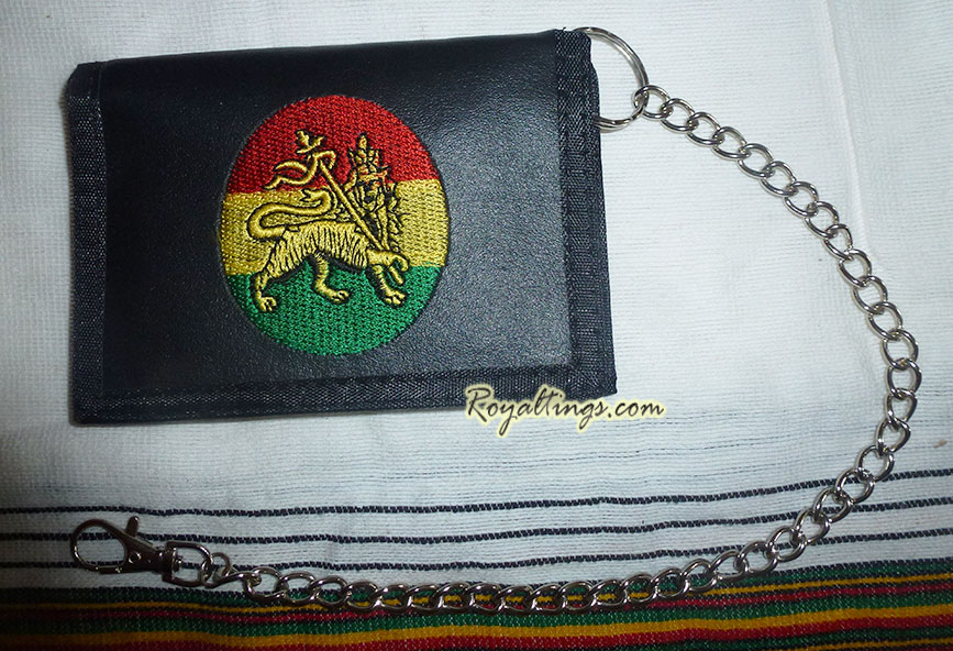 Rasta Lion wallet + chain