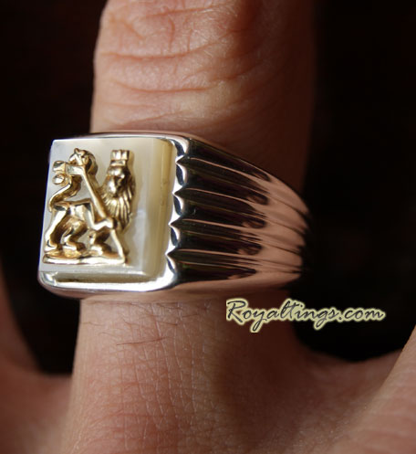 Bague Lion of Judah Or et Argent 2