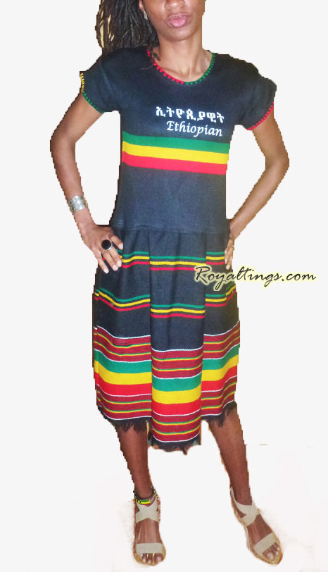 Rasta Queen dress Ethiopia