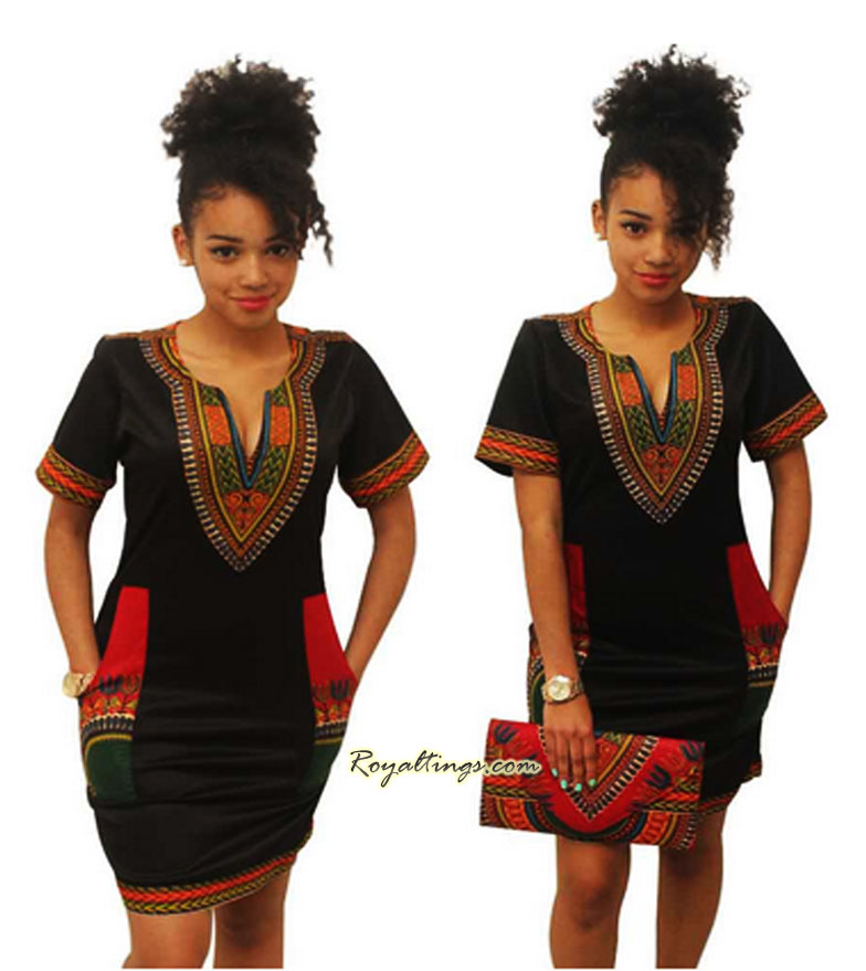 Robe Fashion Africaine zippée