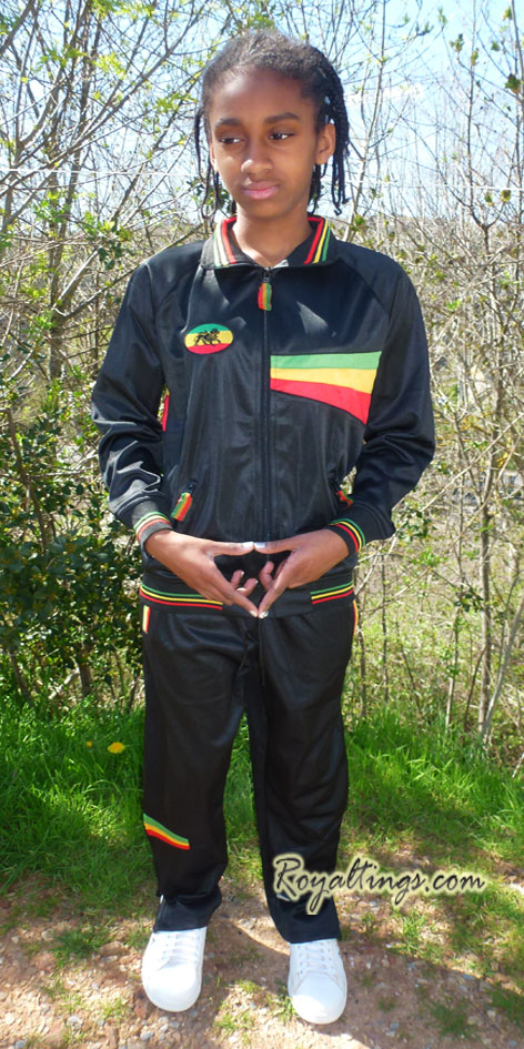 rasta children tracksuit