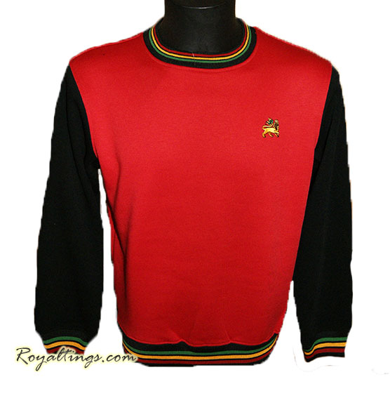 Sweat Rasta Lion of Judah, jaune, rouge ou gris