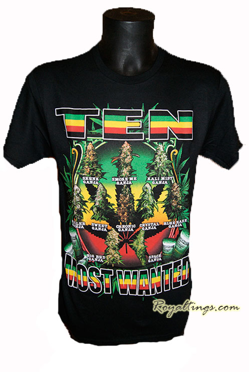 Tee shirt Most Wanted weed