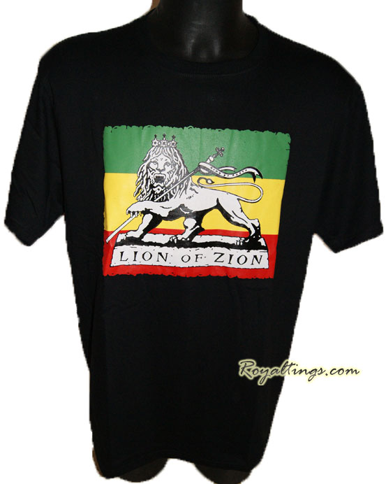 Tee shirt rasta lion 2