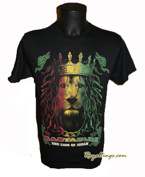Tee shirt Lion rasta crown