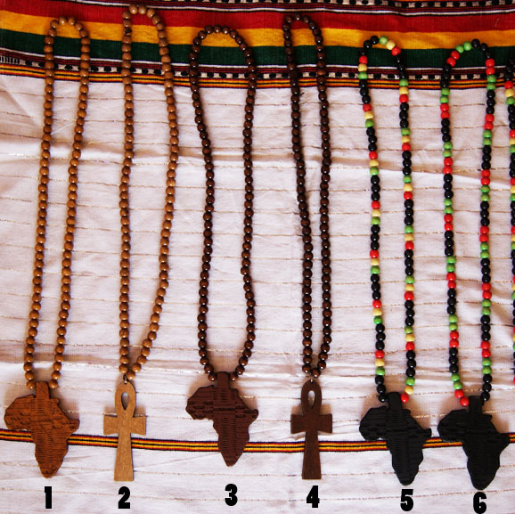Wood Rasta Necklace