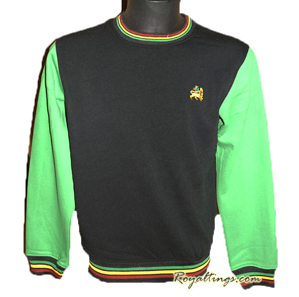 Sweat Rasta Lion of Judah vert ou jaune
