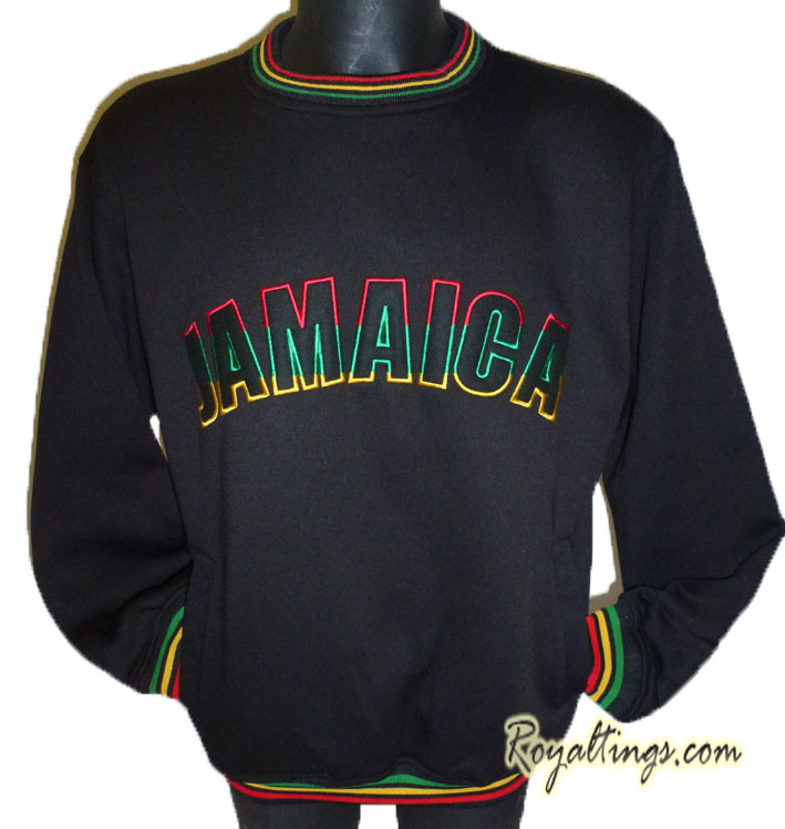 Sweat Rasta Jamaica Brodé