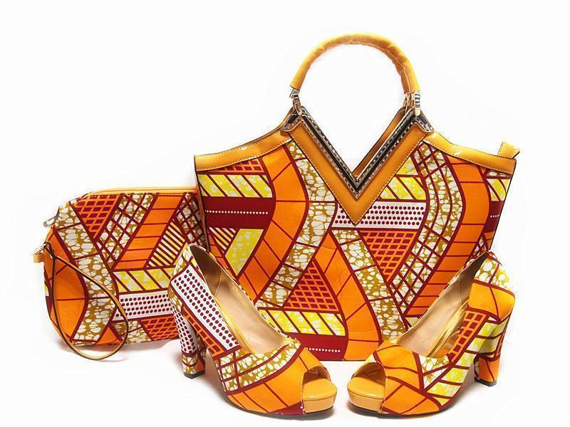 Wax set bags and shoes Africa